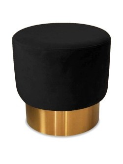 tabouret  velours  black