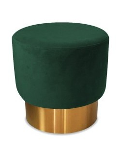 tabouret  velours green