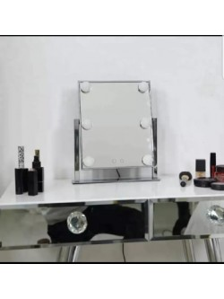 MIROIR HOLLYWOOD SILVER